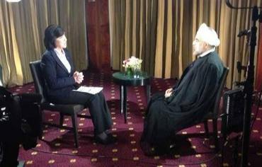 Il presidente iraniano Hasan Rohani intervistato da Christiane Amanpour, della CNN
