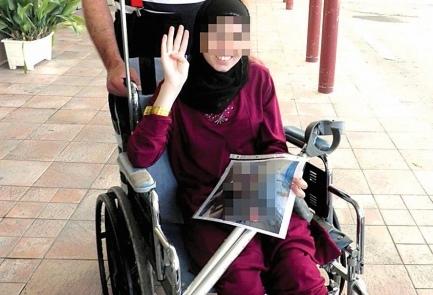La 15enne ragazza siriana, giunta in Israele un mese fa in gravi condizioni, è ora pronta per tornare a casa con la protesi alla gamba