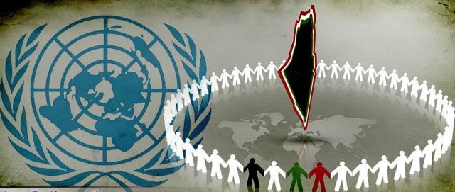 Anche nella campagna per il riconoscimento unilaterale alle Nazioni Unite, la pubblicistica araba rappresenta lo Stato Palestinese come la cancellazione di Israele dalla mappa geografica.