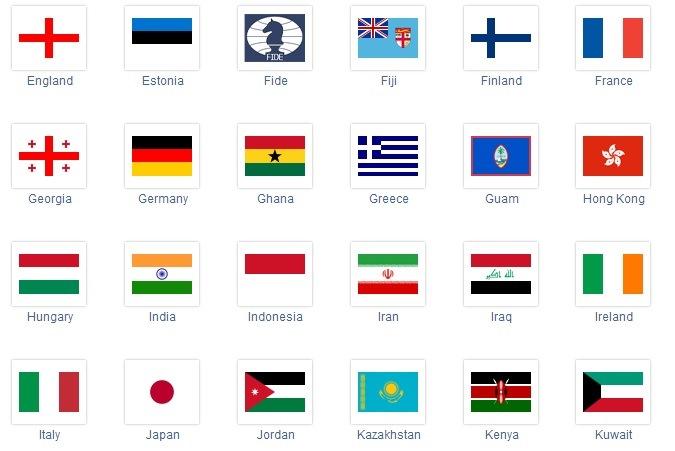 i 2013 a Dubai la bandiera d'Israele non compare: per trovare la squadra israeliana bisogna cliccare sul simbolo della FIDE, la Federazione Scacchistica Internazionale