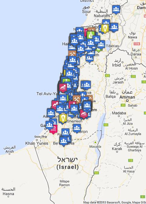 Start up in Israele: clicca per la mappa interattiva