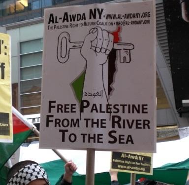 """Il ritorno (al-awda) cancella Israele """"dal fiume al mare"""""""