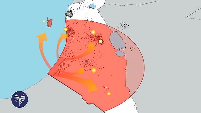 Raggio d'azione del missile M-302 dalla striscia di Gaza su Israele