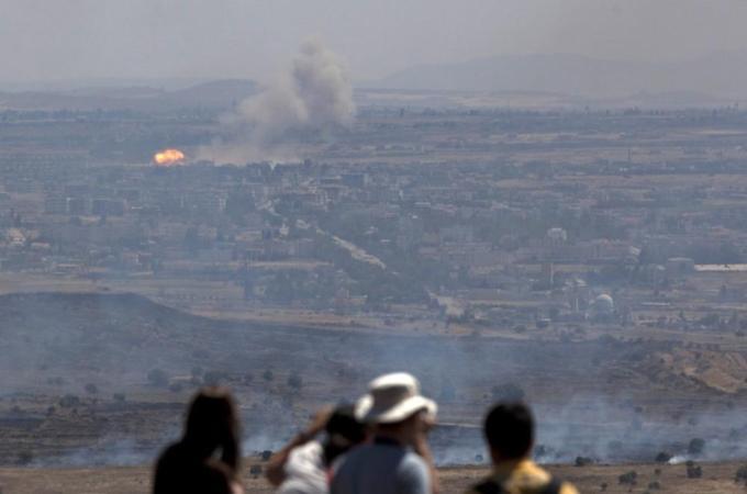La guerra civile siriana vita da Israele