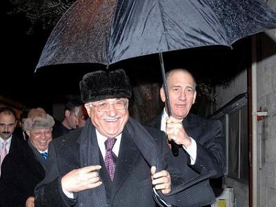 Abu Mazen e Ehud Olmert