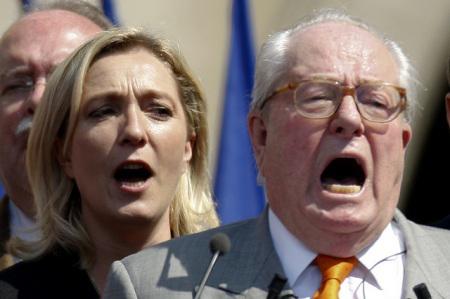 Marine e il padre Jean-Marie Le Pen
