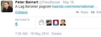 Il Tweet di Beinart