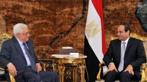 7.9.14 - incontro al Cairo fra il presidente dell'Autorità Palestinese Mahmoud Abbas (Abu Mazen) e il presidente egiziano Abdel-Fattah al-Sisi