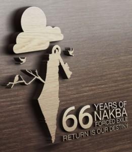 """Tutte l'iconografia della """"nakba"""" rappresenta graficamente la mappa delle rivendicazioni palestinesi: Israele è cancellato dalla carta geografica"""