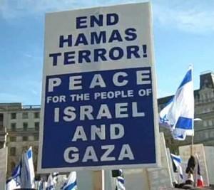 """""""Basta terrorismo di Hamas. Pace per i popoli d'Israele e Gaza"""""""