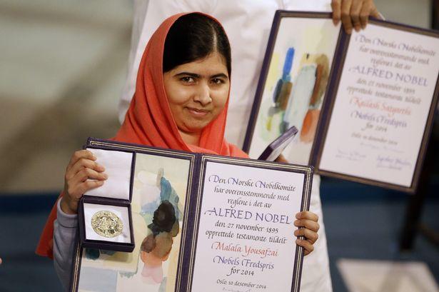 Malala Yousafzai, premio Nobel per la pace 2014