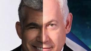 Nella fotocomposizione, l'ex ministro delle finanze Lapid e il pri