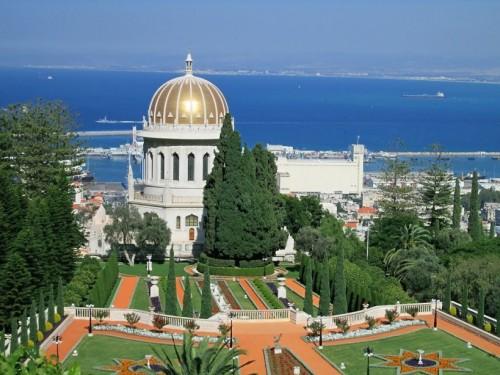 Il Centro Mondiale Baha'i a Haifa (Israele)