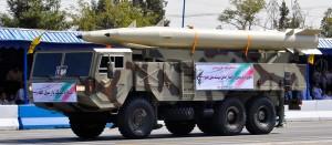 Missile Fateh-110 durante una parata in Iran