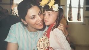 Lucy Aharish il giorno del suo quarto compleanno