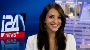 Lucy Aharish conduce l'edizione serale del TG in inglese su i24news
