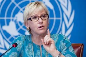 Margot Wallstrom, ministra degli esteri svedese