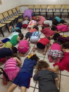 Asilo israeliano durante un allarme anti-aereo della scorsa estate