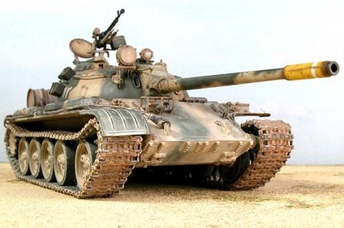 Un carro armato T 55 di produzione sovietica (foto d'archivio)