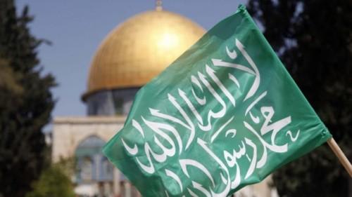 Bandiera di Hamas sul Monte del Tempio, a Gerusalemme