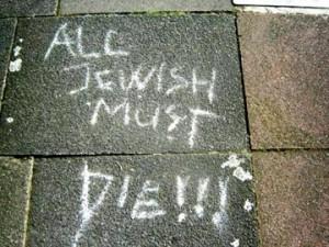 """Su un muro in Inghilterra: """"Tutti gli ebrei devono morire"""""""