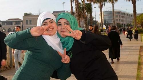 Studentesse universitarie arabo-israeliane