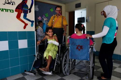 Feriti siriani curati in un ospedale israeliano