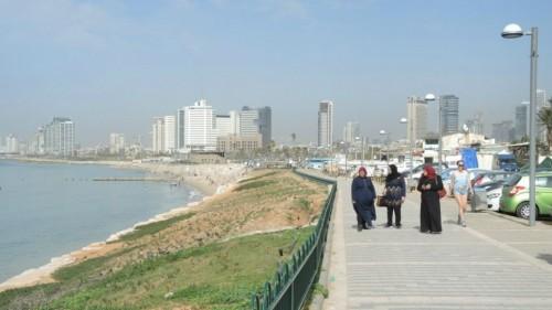 La passeggiata Giaffa-Tel Aviv il 9 marzo, giorno successivo all'attentato