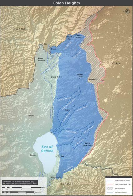 Le alture del Golan, oggi