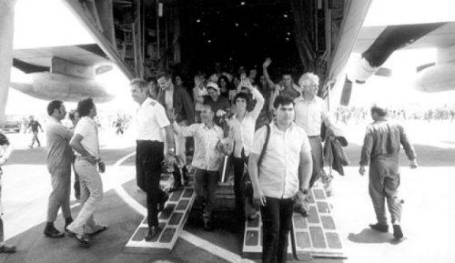 L'arrivo in Israele degli ostaggi liberati dopo una settimana di cattività a Entebbe