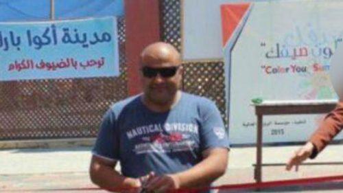 Mohammad El Halabi in un'immagine prima dell'arresto