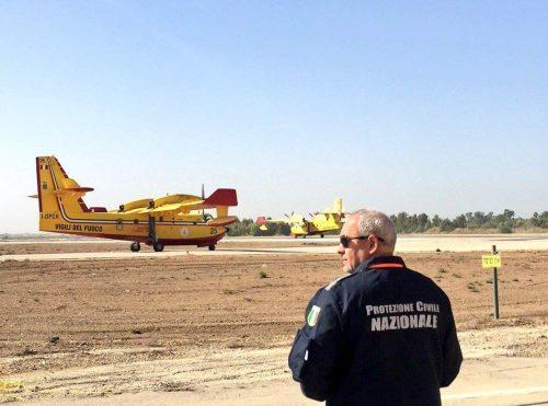L'aiuto dell'Italia contro gli incendi in Israele