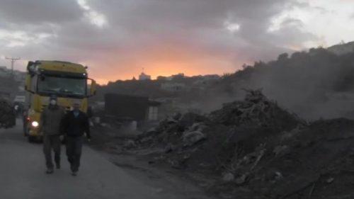 L'intervento delle autorità israeliane nell'impianto inquinante di Ya'bad