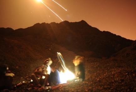 """Razzo Grad intercettato sopra Eilat dal sistema anti-missile """"Cupola di ferro"""""""