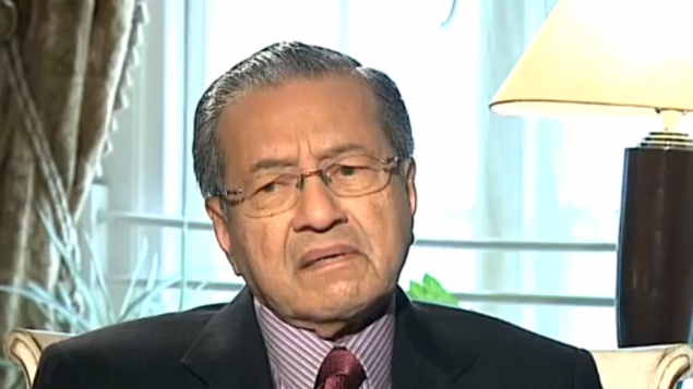 L'ex primo ministro malese Mahathir Mohamad