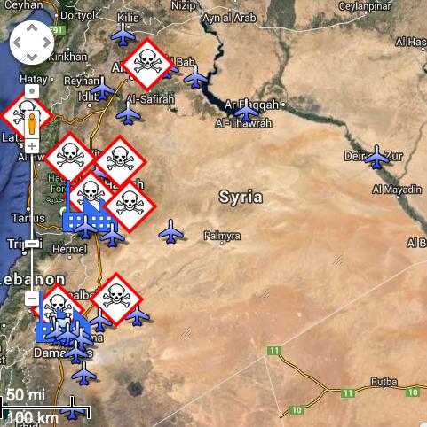 Alcuni siti di armi chimiche in Siria (secondo Foreign Policy magazine)