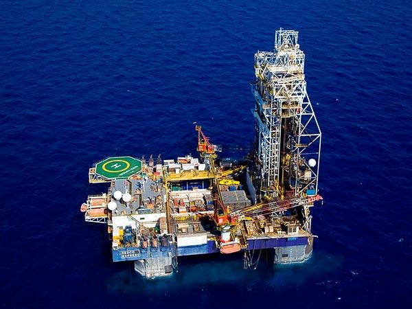 Impianto di perforazione off-shore sul giacimento di gas naturale israeliano Tamar