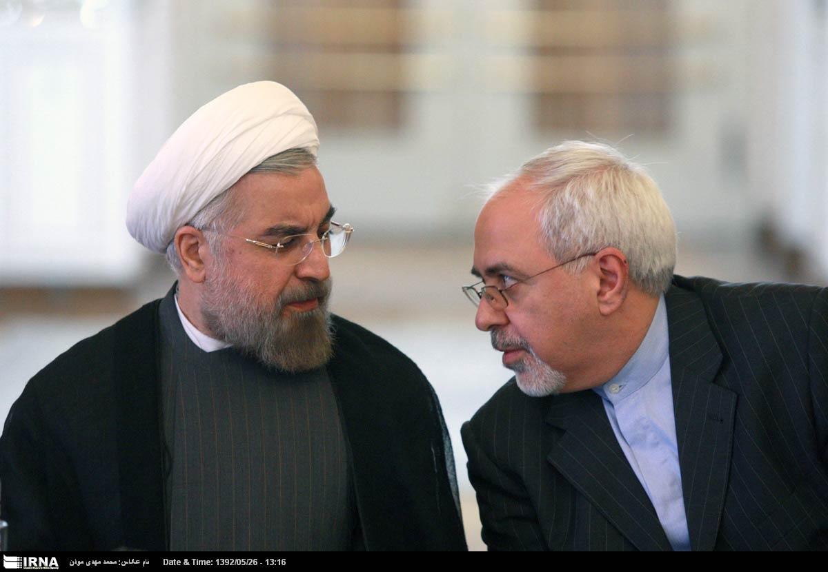 Il presidente iraniano Hassan Rohani e il ministro degli esteri Mohammad Javad Zarif