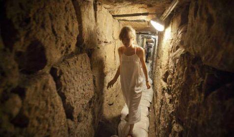 Tunnel archeologico a Gerusalemme (foto d'archivio)