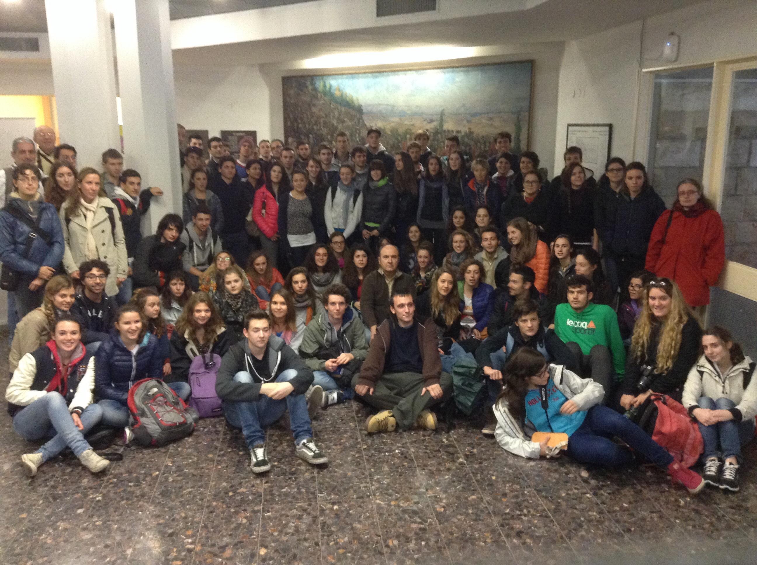 """Foro di gruppo all'Università di Gerusalemme dei partecipanti al viaggio """"Alla scoperta di Israele"""""""