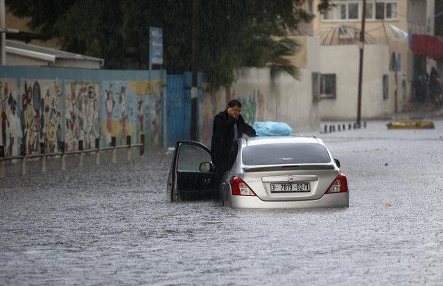 Per le strade della città di Gaza