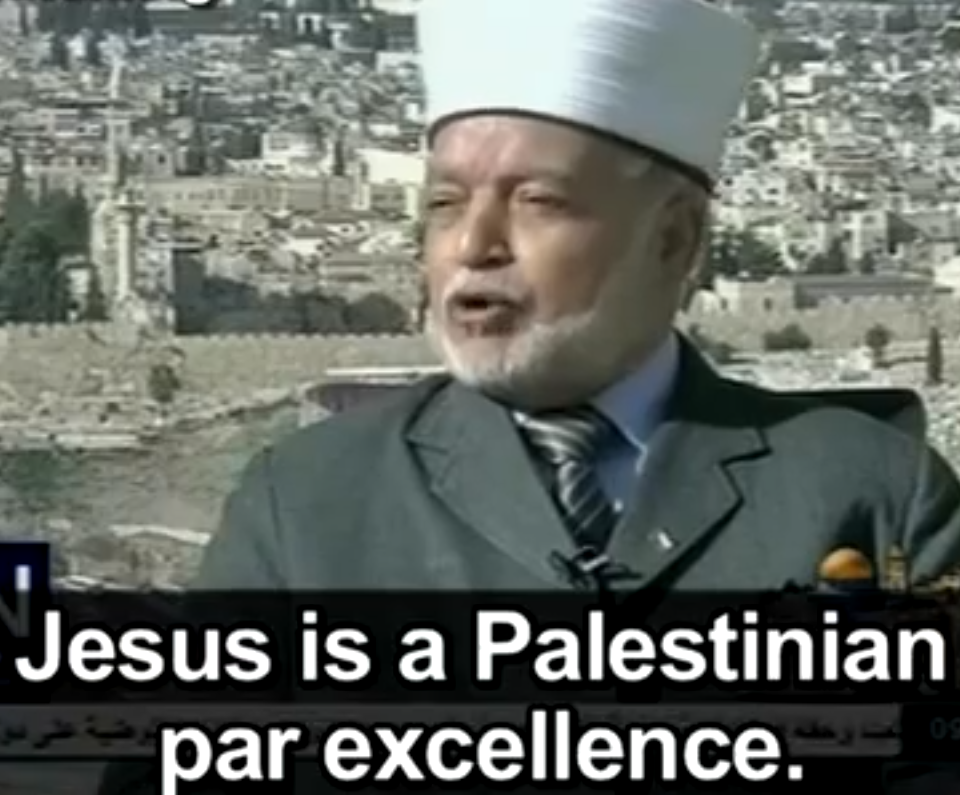 """Muhammad Hussein, Mufti di Jerusalem e Territori Palestinesi, alla tv dell'Autorità Palestinese (30.11.12): """"Gesù è palestinese per eccellenza"""""""
