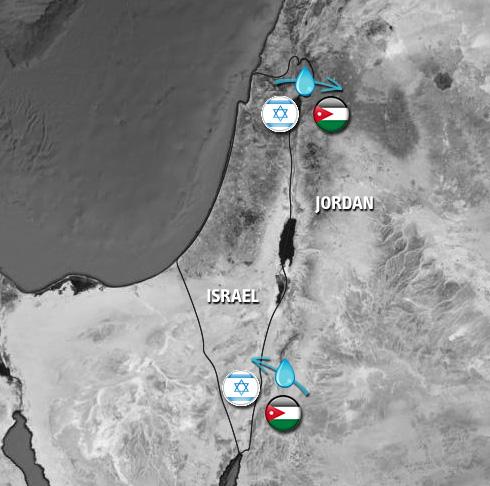 Rappresentazione grafica dell'accordo di scambio Israele-Giordania