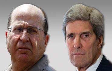 Il Ministro della difesa israeliano Moshe Ya'alon e il Segretario di stato usa John Kerry