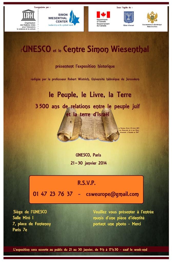 L'invito all'evento Wiesenthal-Unesco, poi cancellato