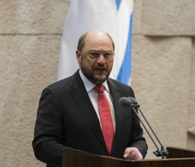 Il Presidente del Parlamento europeo, Martin Schulz, mercoledì alla Knesset
