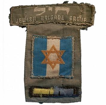 La Stella di Davide sulle spalline dei volontari della Brigata Ebraica