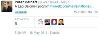 Il Tweet di Beinart