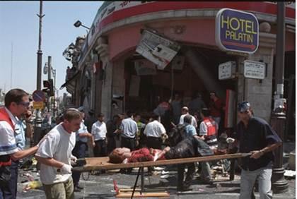 L'attentato del 2002 alla pizzeria Sbarro di Gerusalemme