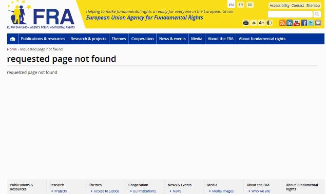 """La pagina """"AntiSemitism Working Definition"""" sul sito della European Union Agency for Fundamental Rights"""